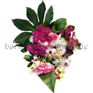 Für Beerdigung Blumenstrauß gebunden in Pink