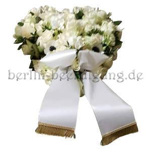 Blütenherz in Weiß
