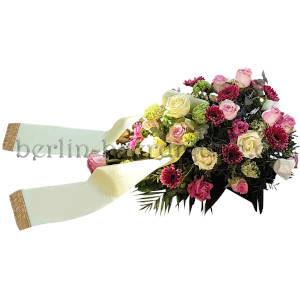 Blumen für die Beerdigung Weiß bis Bordeaux