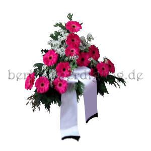 Blumengesteck Beerdigung pink