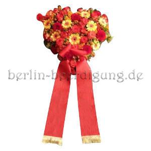 Blumenherz gelb-rot