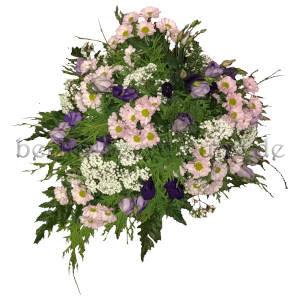 Blumenschmuck mit Sommerblumen in Roas Weiß auf Wunsch mit Schleife