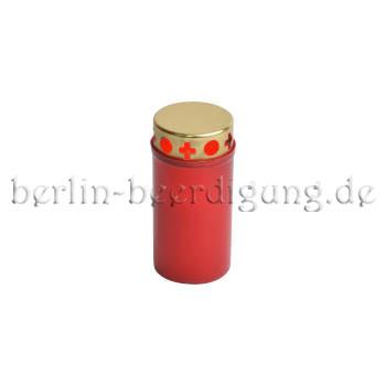 Grabkerze preiswert in rot