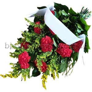 Rote Nelken Blumen zur Beerdigung