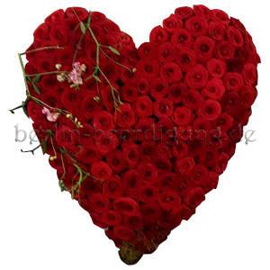 Rosenherz rot als Zeichen der Liebe