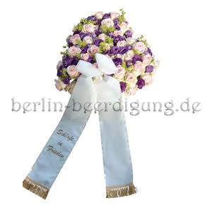 Blumenherz mit Schleife