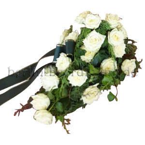 Trauergesteck weiße Rosen
