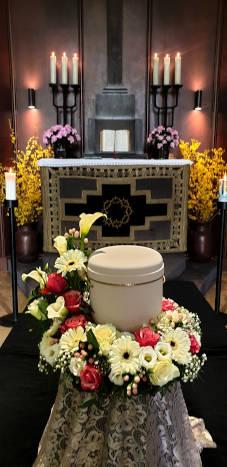 Urnenkranz zur Trauerfeier