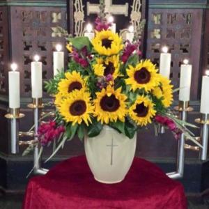 Urnenkrone-Sonnenblumen