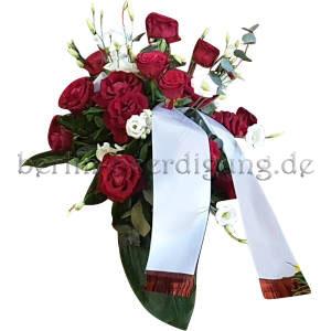 elegantes Blumengesteck rote Rosen