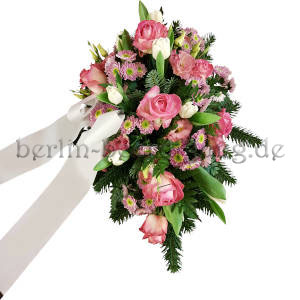 rosa-gruenes-Trauergesteck